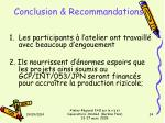 conclusion recommandations