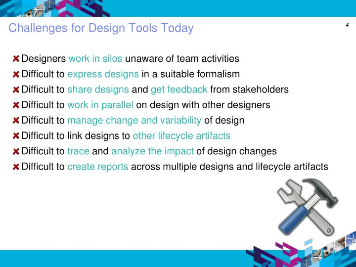 Challenges for Design Tools Today