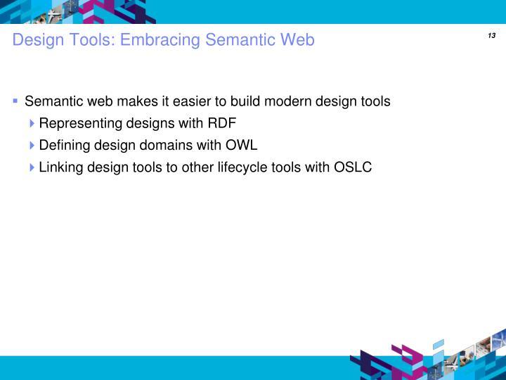 Design Tools: Embracing Semantic Web