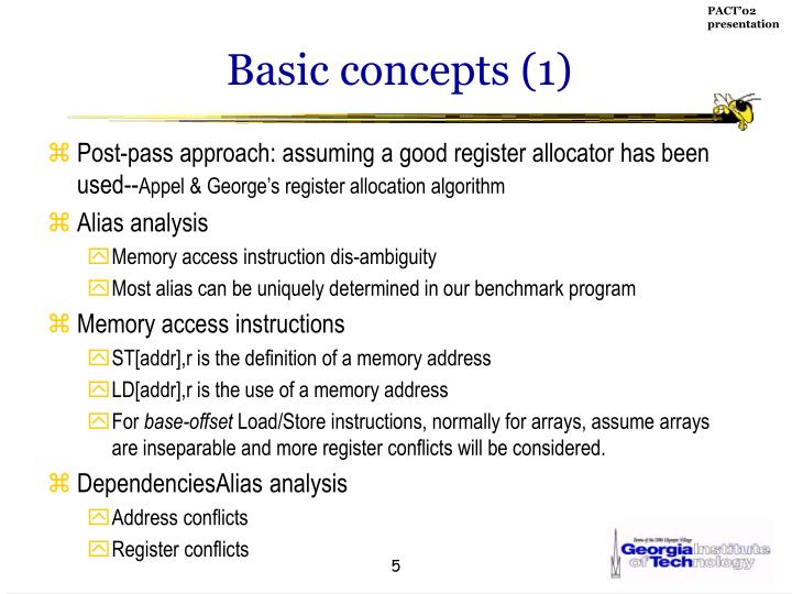 Basic concepts (1)
