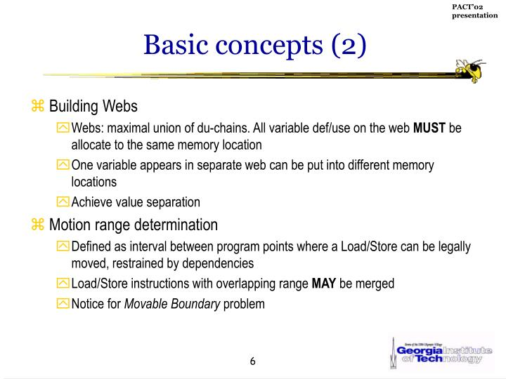 Basic concepts (2)