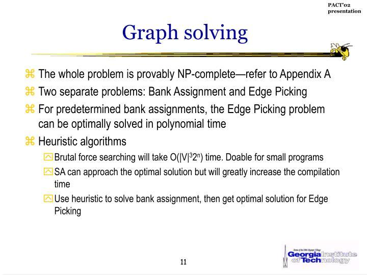Graph solving