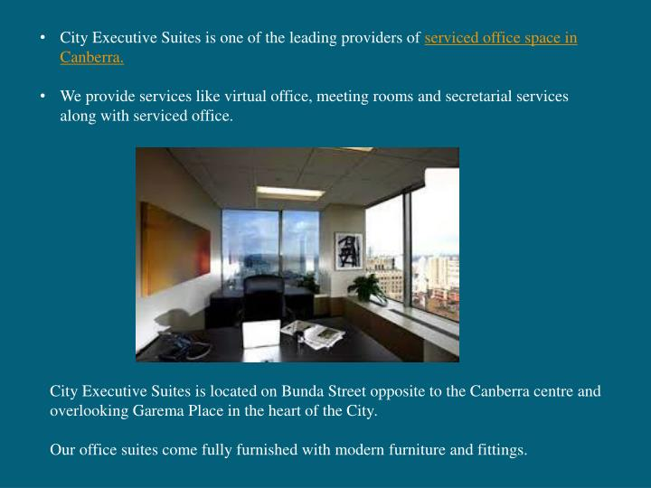 City Executive Suites is one of the leading providers of
