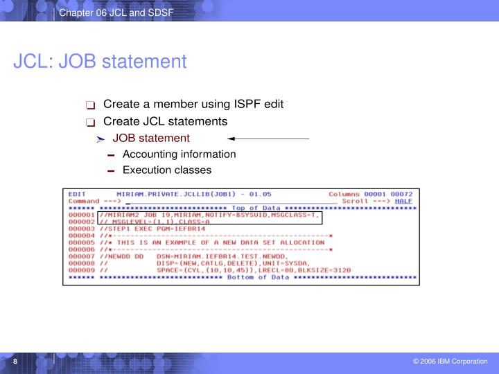 JCL: JOB statement