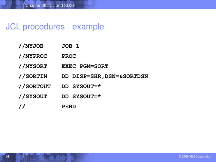 JCL procedures - example