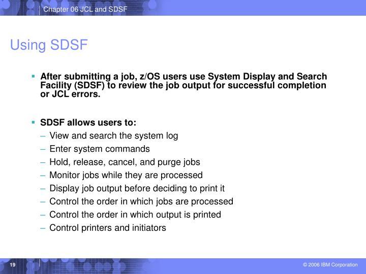Using SDSF
