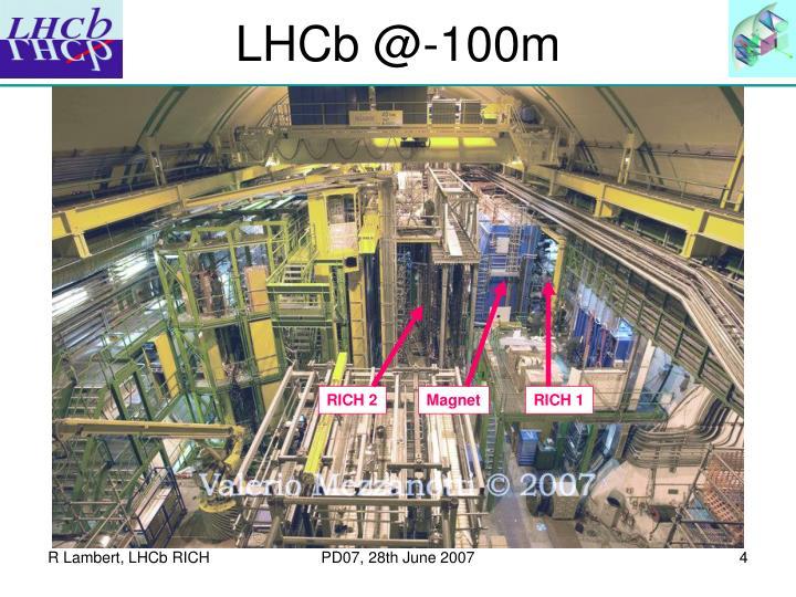 LHCb @-100m