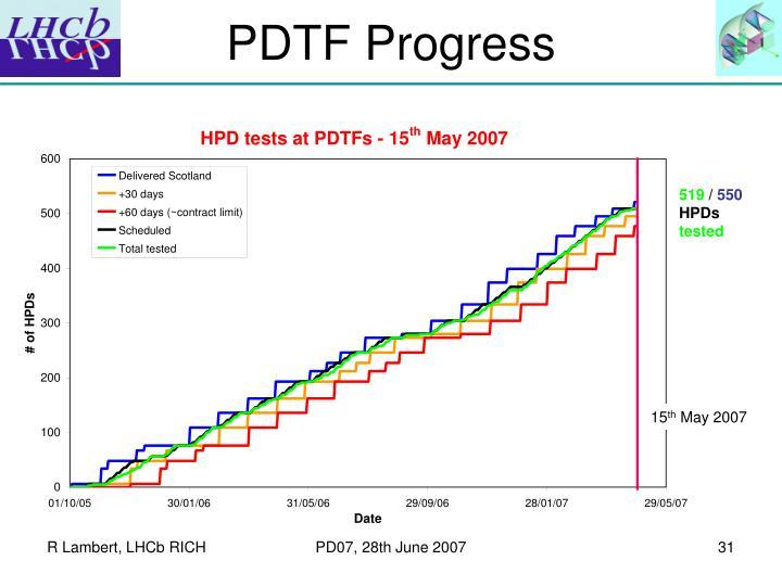 PDTF Progress