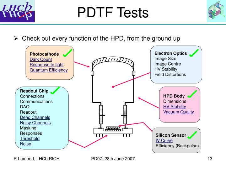 PDTF Tests