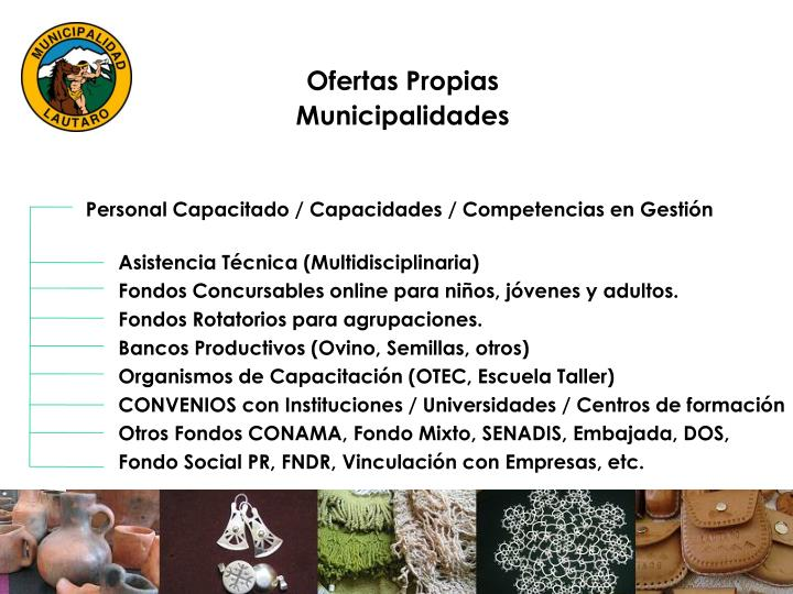 Ofertas Propias Municipalidades