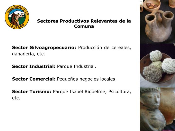 Sectores Productivos Relevantes de la Comuna