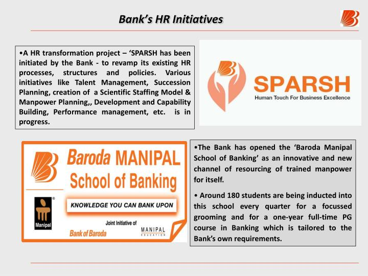 Bank's HR Initiatives