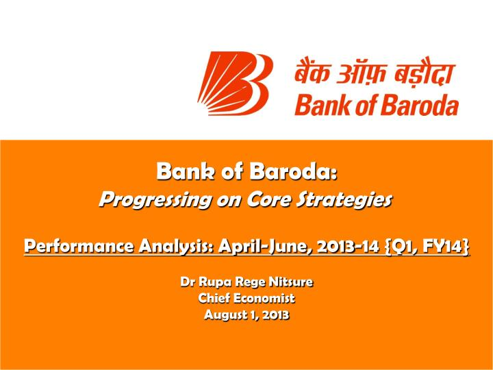 Bank of Baroda: