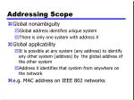 addressing scope