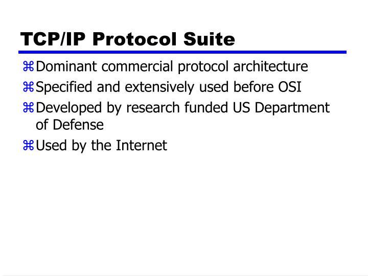TCP/IP Protocol Suite