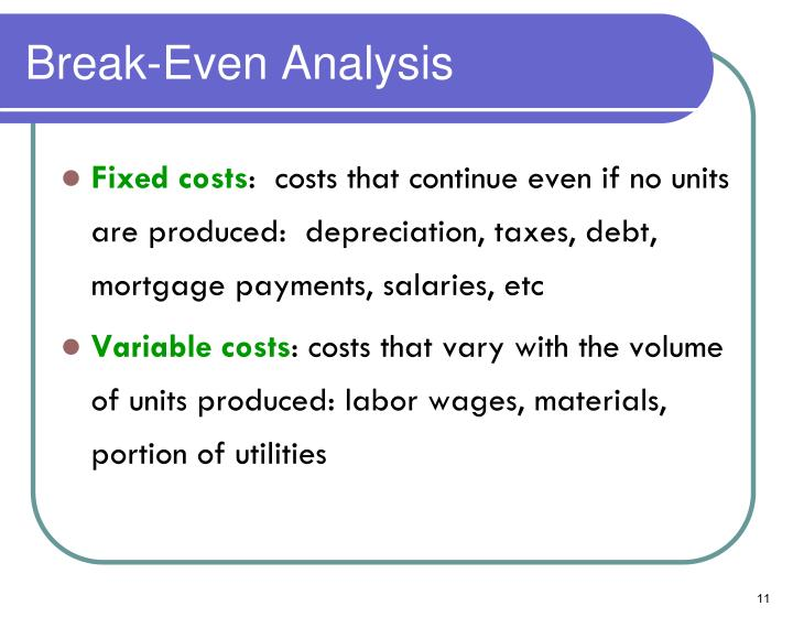 Break-Even Analysis