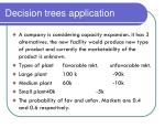 decision trees application
