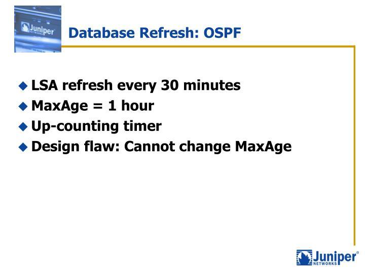 Database Refresh: OSPF