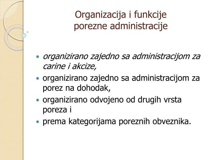 Organizacija i funkcije