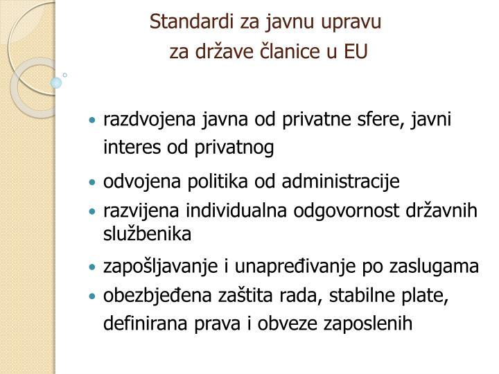 Standardi za javnu upravu