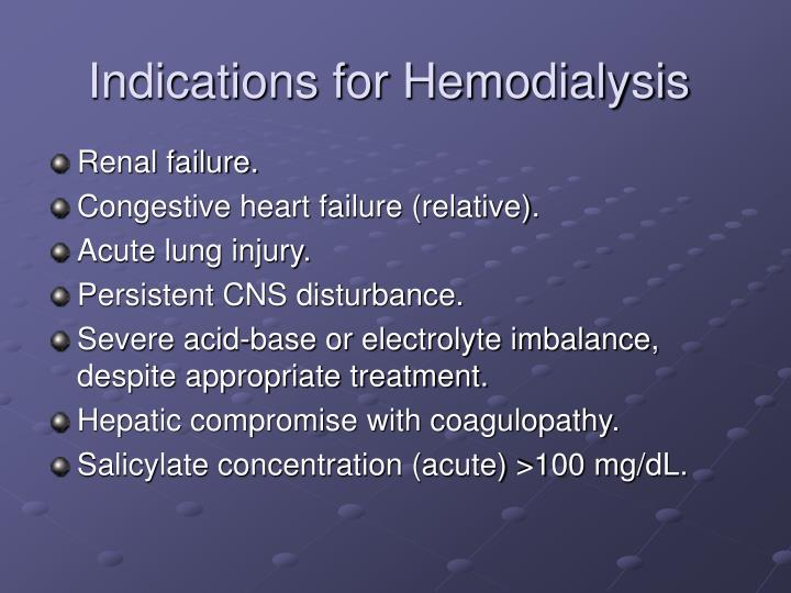 Indications for Hemodialysis