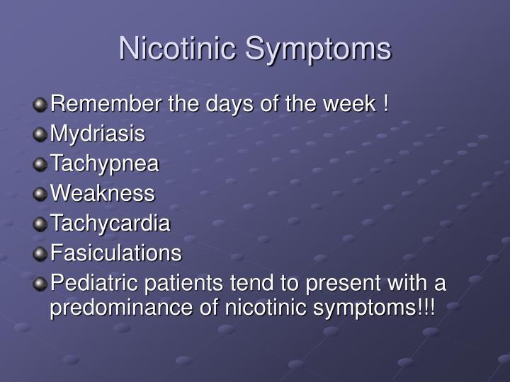 Nicotinic Symptoms