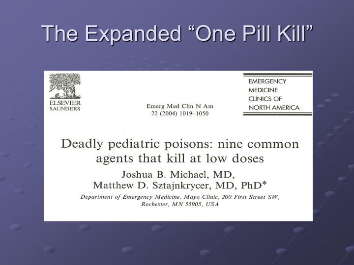 "The Expanded ""One Pill Kill"""