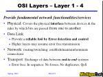 osi layers layer 1 4
