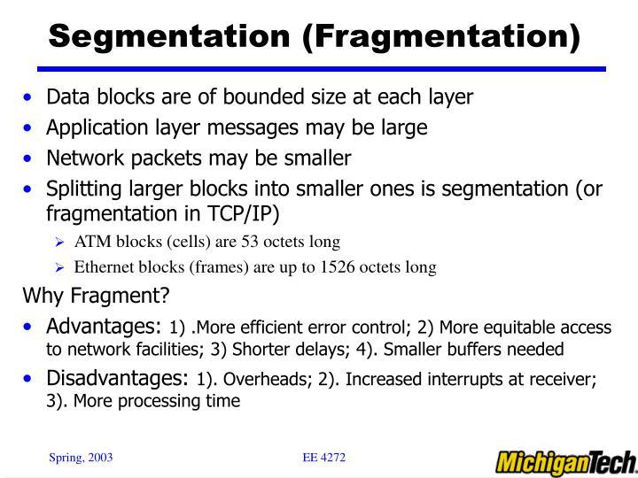 Segmentation (Fragmentation)