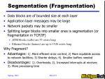 segmentation fragmentation