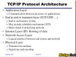 tcp ip protocol architecture
