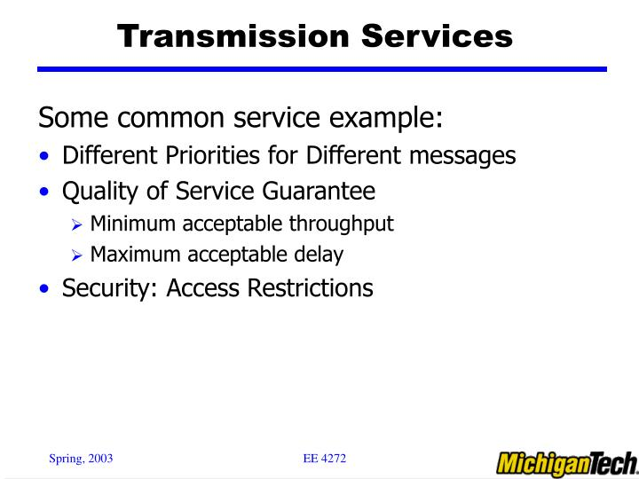 Transmission Services