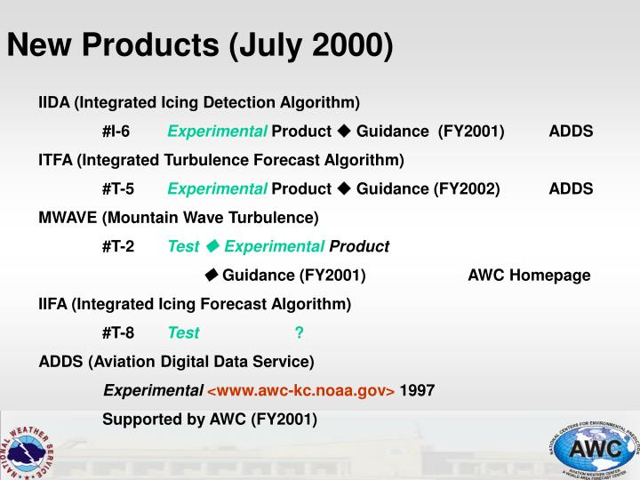 New Products (July 2000)