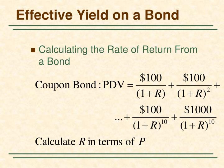 Effective Yield on a Bond