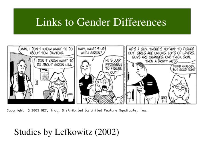 Links to Gender Differences
