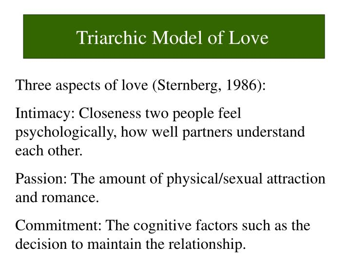 Triarchic Model of Love