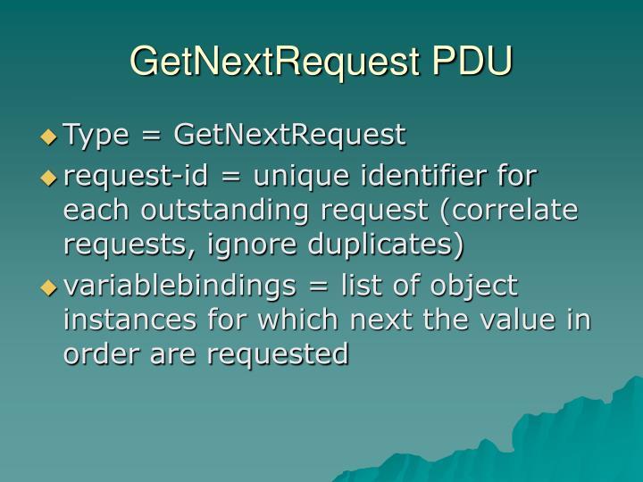 GetNextRequest PDU