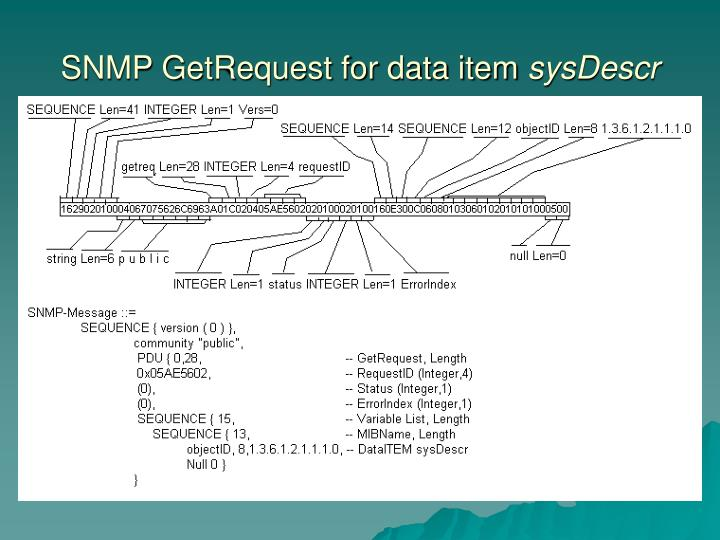 SNMP GetRequest for data item