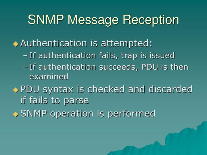 SNMP Message Reception