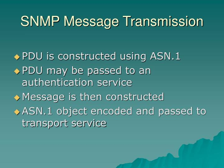 SNMP Message Transmission