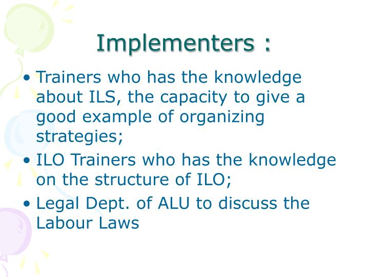 Implementers :
