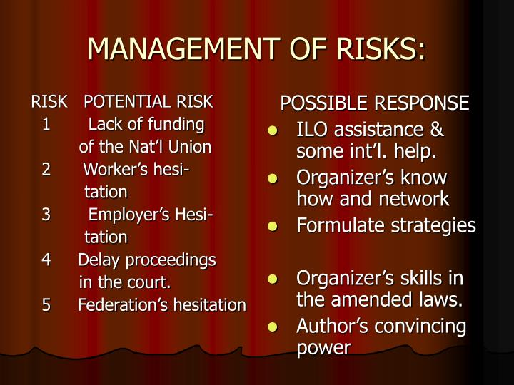 RISK   POTENTIAL RISK
