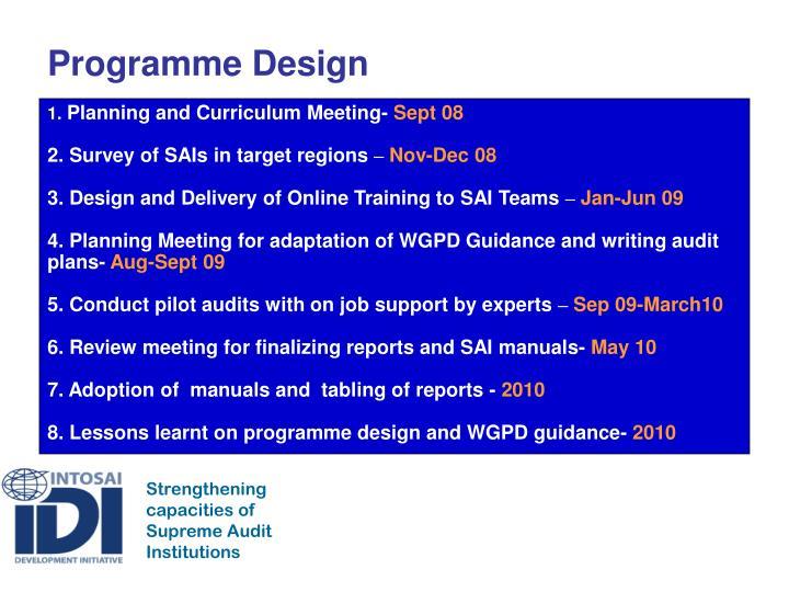 Programme Design