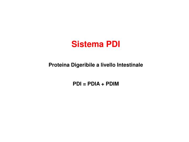 Sistema PDI