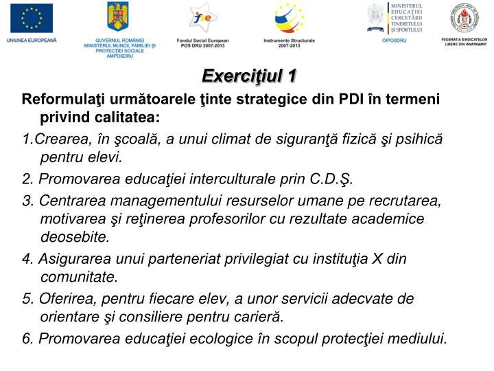 Exerciţiul 1