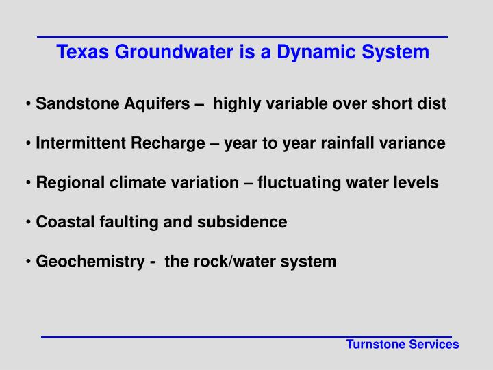Texas Groundwater is a Dynamic System