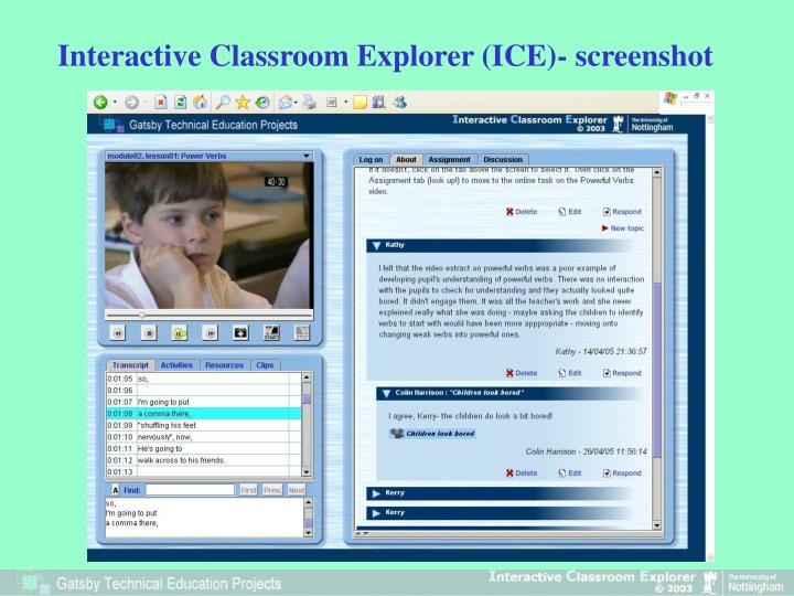 Interactive Classroom Explorer (ICE)- screenshot