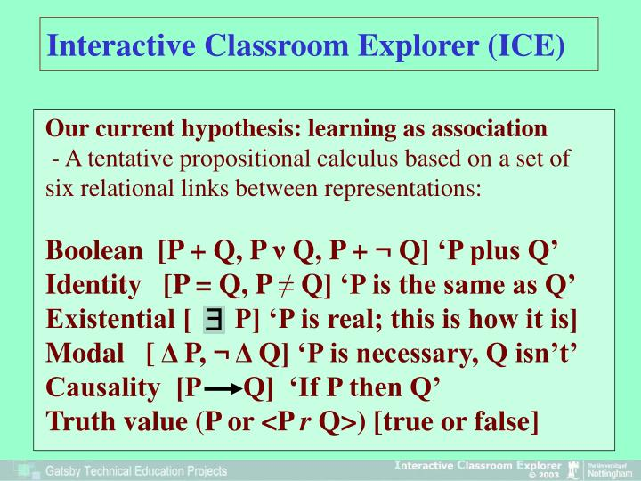 Interactive Classroom Explorer (ICE)