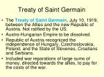 treaty of saint germain