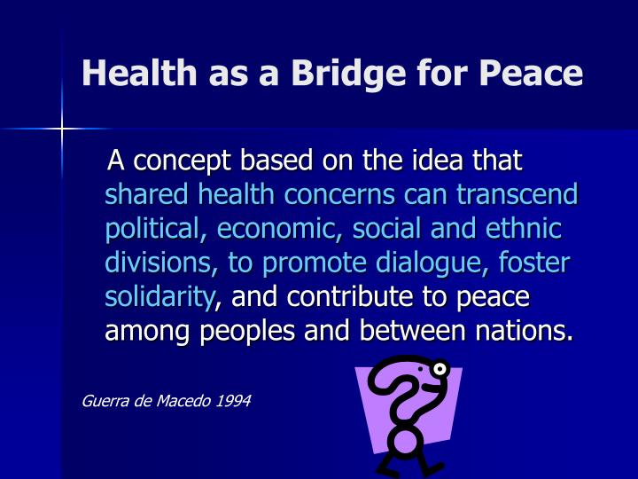 Health as a Bridge for Peace